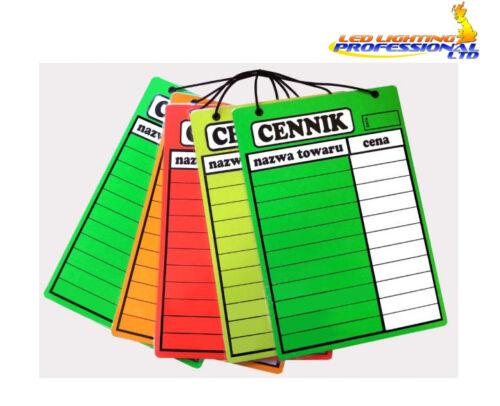 LAMINATED PRICING LIST /'CENNIK/' A3 41CM X 29CM DRY WIPE PRICE BOARD