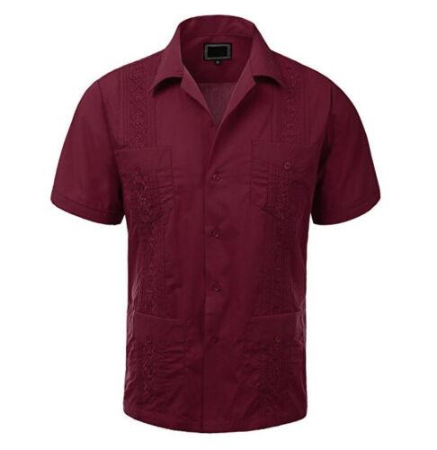 Wedding Cigar Beach Bartender Casual NWT Men/'s Original Cuban Guayabera Shirt