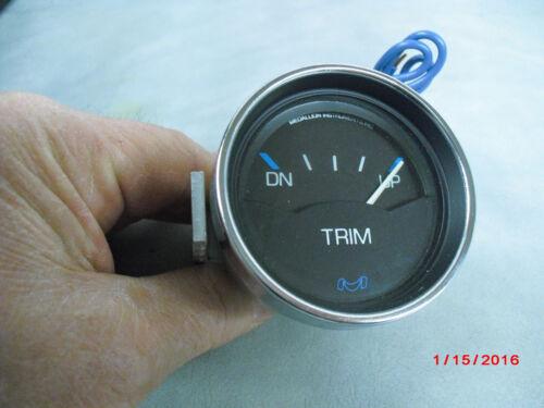 """NEW Medallion TRIM GAUGE Chrome Bezel #677 2/"""" Blk,White,Blue    2-E-2"""