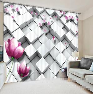 Caja de pétalos de 3D 79 Cortinas de impresión de cortina de foto Blockout Tela Cortinas Ventana Reino Unido