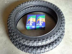 """2-16x2.125 DURO BMX BLACK TIRES & 2-16"""" TUBES FOR KIDS BICYCLES *FREE RIM LINERS"""