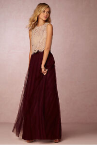 38cd6a561 Image is loading NEW-ANTHROPOLOGIE-BHLDN-220-CABERNET-LOUISE-TULLE-SKIRT-