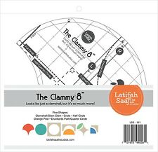 Clammy 8-Inch Quilt Template Clamshell Half Circle Orange Peel Drunkards Path