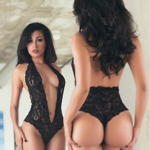 6470e5ae5a1 Image is loading Women-039-s-Sexy-Lace-Lingerie-Sleepwear-Babydoll-
