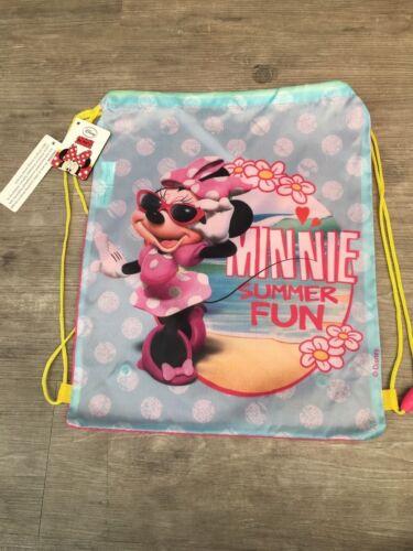 Girls Minnie Mouse Swimming Bag School Sports PE Gym Swim Drawstring Bag