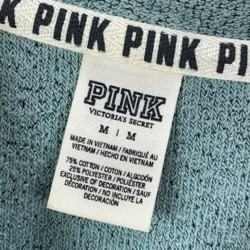 Details about  /Pink Victorias Secret Pullover Sweater Sweatshirt size M Green Tunic Oversized