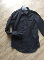 Zara Man slim fit Hemd gr. L/ 42 schwarz