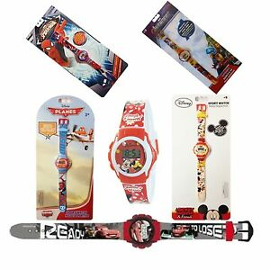 Para-Ninos-Disney-Digital-Reloj-De-Pulsera-Marvel-Mickey-Minnie-Spiderman-Y-Mas