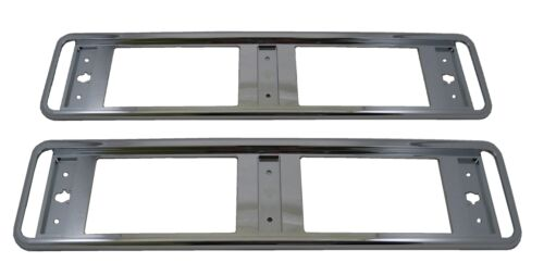 Pair of Chrome number plate surrounds for Honda Jazz 1.2 1.4 parts accessories