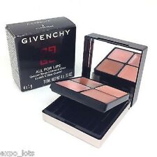 GIVENCHY ALL FOR LIPS LIPSTICK & GLOSS QUARTET PALETTE  #3 ALL FOR BEIGE NIB