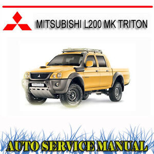 mitsubishi l200 mk triton 2wd 4wd ute service repair manual dvd ebay rh ebay com au mitsubishi l200 user manual pdf mitsubishi l200 user manual