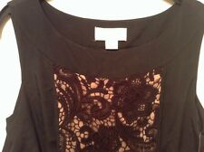 "BNWT "" Jessica Simpson "" Size S (10)Black beige, Nude Knitted Detail 38 EU Lace"