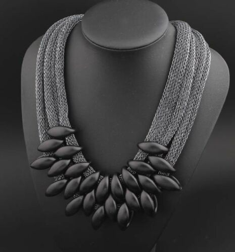 Ladies Women Chucky Choker Multi Layer Necklace