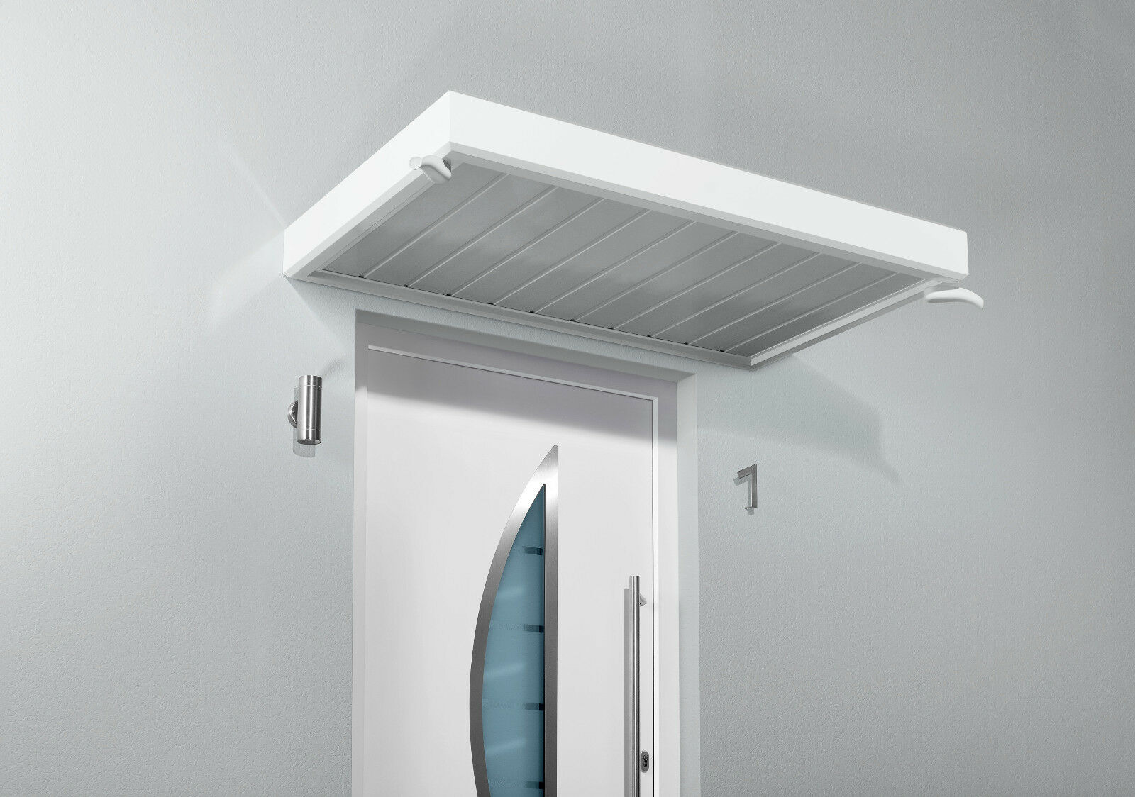 Gutta Vordach Vordach Vordach Rechteckvordach NM weiß 150 x 90 x 14 cm a78e39