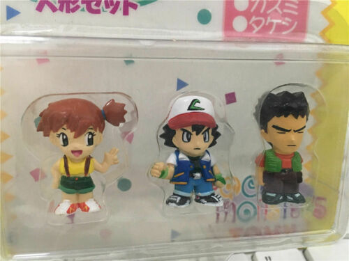 Tomy Japan Pokemon Mate Mini Figure Ash//Misty//Brock//James//Jessie//Meowth Set