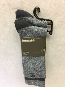 Timberland-Boot-Crew-Socks-2-Pairs-One-Size-FIts-Most-Green-And-Gray