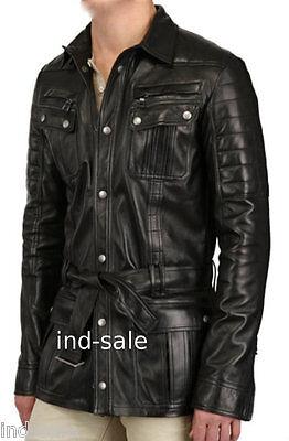 Genuine Leather Custom Made Jacket Blazer Tailor Nice Designer Black Quilted