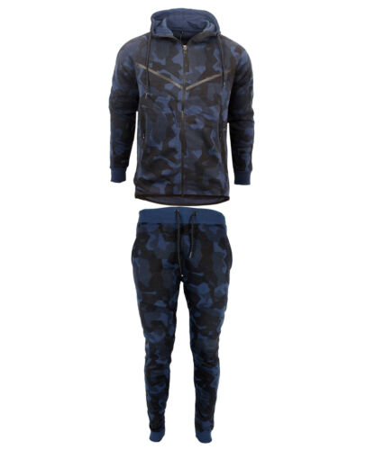Herren Armee Tarnfarbe Trainingsanzug Tarnung Fleece Kapuzenpullover