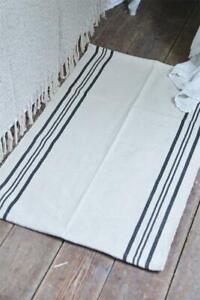 Nostalgie-Vintage-Teppich-Laeufer-Dusty-Streifen-60x90-cm-Jeanne-d-Arc-living-NEU