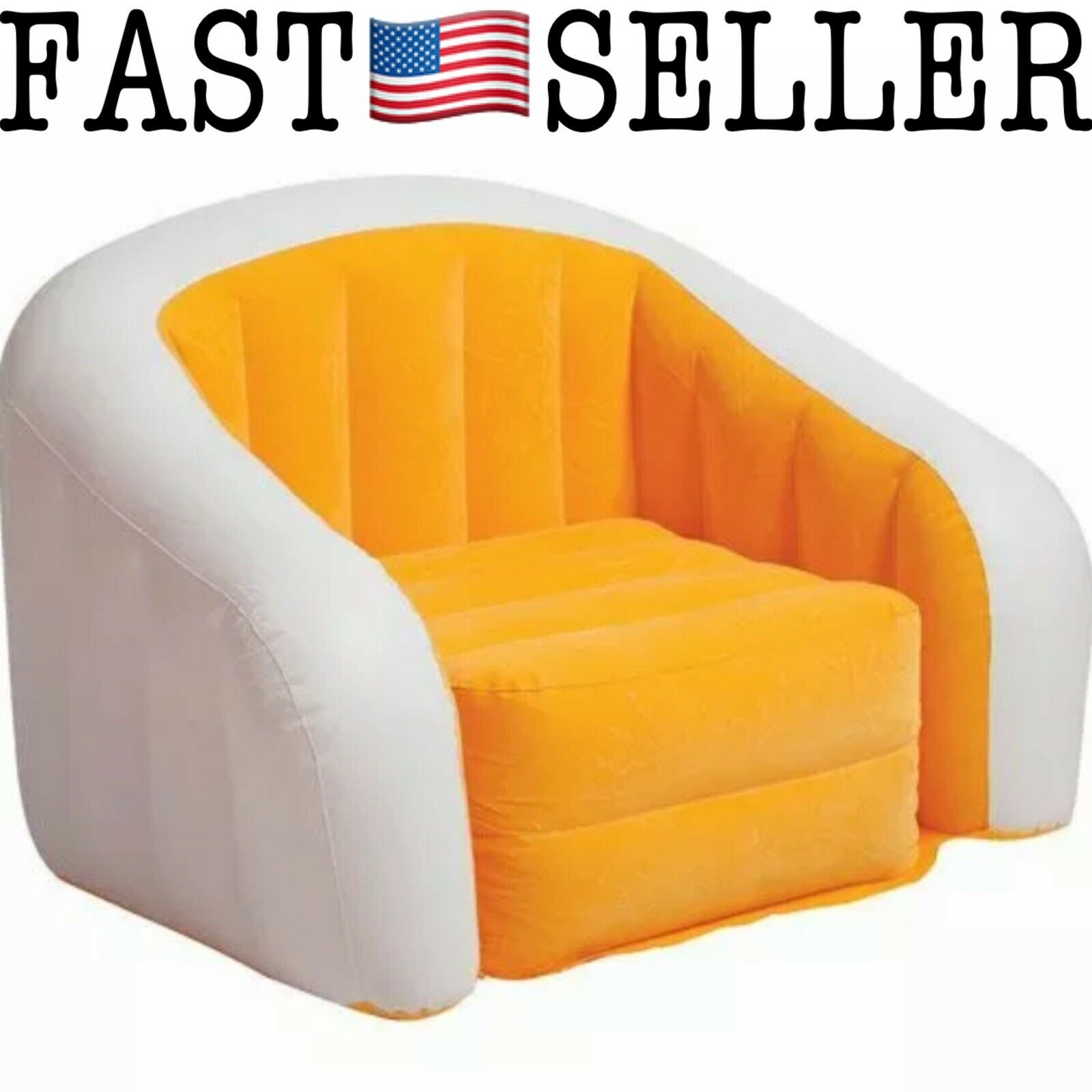 Intex Classic Retro Cafe Club Chair Inflatable - 7 in x 7 in x 7 in -  Orange