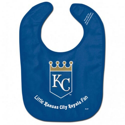 Kansas City Royals MLB Little Fan Baby Feeding Bib Infant Toddler Newborn Shower