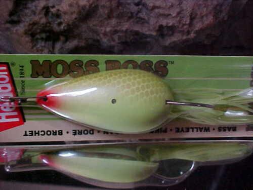 Heddon Weedless 3//8oz MOSS BOSS Lure X0515CHS in CHART SCALED Bass//Pike//Pickerel