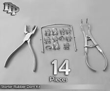 Starter Rubber Dam Kit Of 14 Dental Surgical Instruments