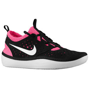 Image is loading Nike-Solarsoft-Costa-Low-Black-White-Pink-Flash-