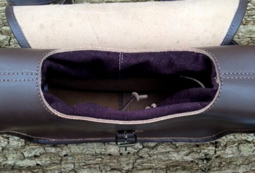 CARTRIDGES HAND MADE BROWN LEATHER SHOOTING CARTRIDGE BAG SATCHEL STORES 120