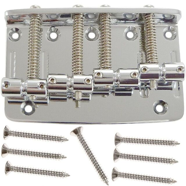 Gotoh 203 4-string Nickel Bass Bridge for Fender P//Jazz® 5-hole Top Load