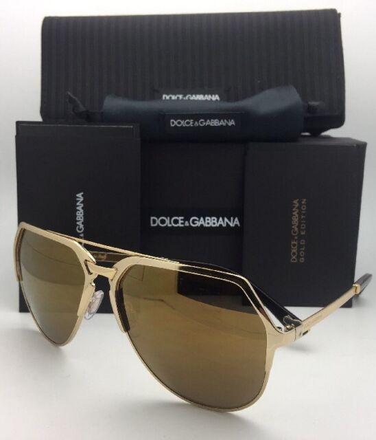 716dfb9b979 New DOLCE   GABBANA Sunglasses DG 2151 K440 F9 18K Gold Plated Aviator w