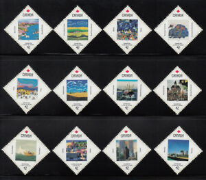 CANADA-DAY-Set-of-12-from-Miniature-Sheet-MNH-1420-1431-Canada-1992