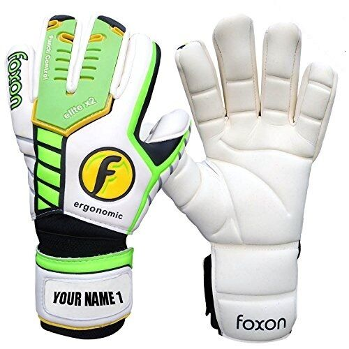Foxon Goalkeeper Football Goalie Elite X2 Negetive Saver Gloves Size 6 7 8 9 10
