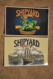 Deux Double-sided Signes-chantier Naval Brewing Company-portland, Maine-afficher Le Titre D'origine Aussi Efficacement Qu'Une FéE