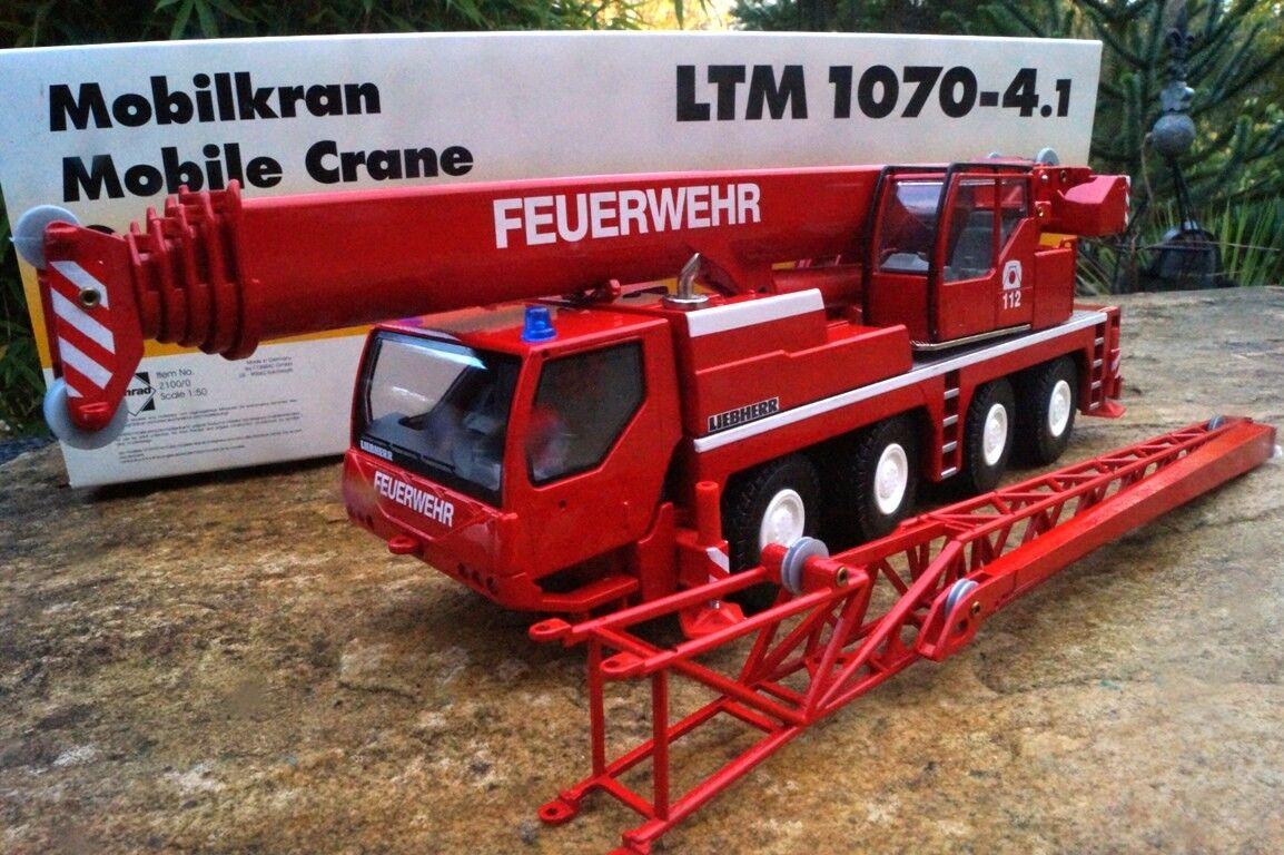Conrad 2100-6   Liebherr LTM 1070-4.1 Mobilkran   Feuerwehr   Neu OVP
