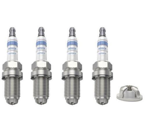 Bujías X 4 Bosch Super 4 se ajusta a VW New Beetle 9C1 1C1 1Y7 1.6 2.0 Volkswagen
