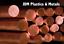 COPPER ROUND BAR ROD C101 DIAMETER 4-50mm BANDSAW CUT UK