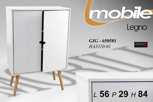 MOBILE-ARMADIETTO-IN-LEGNO-BIANCO-2-ANTE-56X29X84-CM-ARREDO-CASA-650581