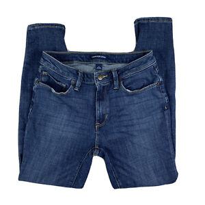 Calvin-Klein-Women-039-s-8-Jeans-Pants-Skinny-Denim-Zip-Fly-Mid-Rise-Dark-Wash-Blue