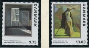 Denmark-Sc-1080-81-1997-Paintings-stamp-set-mint-NH