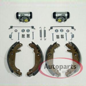 Peugeot-106-I-II-Bremsen-Bremsbacken-Set-hinten-2-Radbremszylinder-mit-Zubehoer
