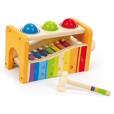 Hape Pound And Tap Bench Baby/toddler/child Wooden Toy/gift Learning/fun Bn Relieving Heat And Sunstroke Preschool Toys & Pretend Play