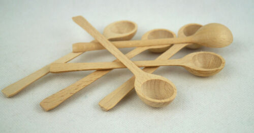 Small Mini Wooden Spoon Sugar Salt 15cm Wholesale Set of 1,10,50,100