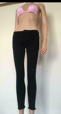 (16) Nero Skinny Jeans Taglia Taglia 6 A 14-mostra Il Titolo Originale