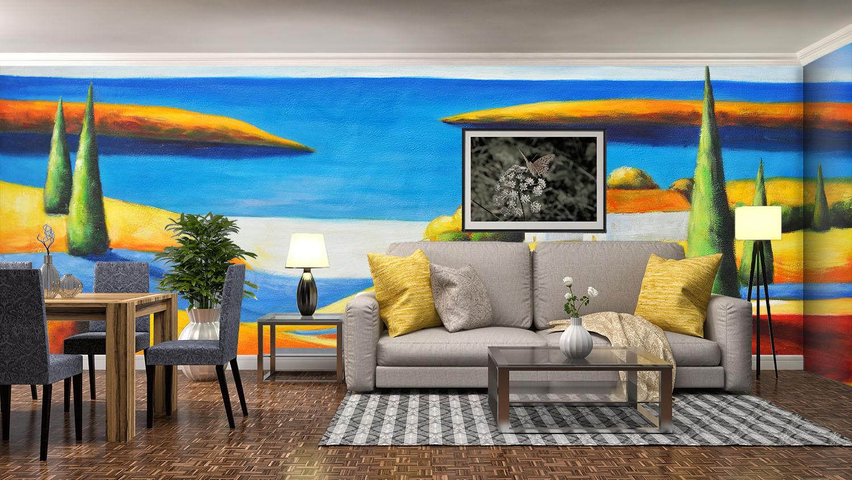 3D Paint Road 4047 Wallpaper Murals Wall Print Wallpaper Mural AJ WALL UK Lemon