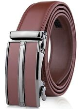 Carbon Buckle with Black Leather Railtek Belts Men/'s One Size Ratchet Belt