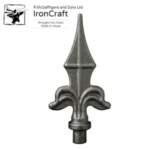 20 Fleur De Lys Wrought Iron Gate Fence Weldable Railhead Spikes 12mm 125 x 60