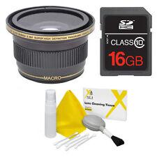 58MM X38 FISHEYE LENS +16GB FOR Canon Rebel EOS XTI 1200D T3 T3I T4 T5 T6 7D 6D