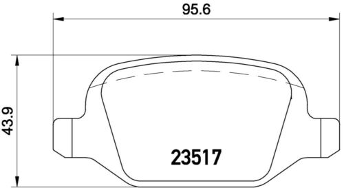 BREMBO REAR Brake Discs and Brake Pads for ALFA ROMEO 147-156 ORIGINAL