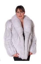 "Madison Avenue Mall Women's Real Natural Blue Fox Fur Jacket Coat - 25"""